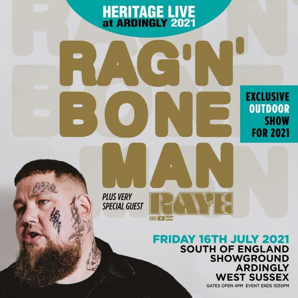 Heritage Live 2021 - Rag'n'Bone Man plus Special Guests